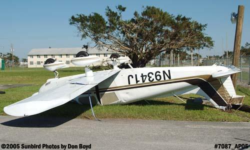 Arthemon Johnsons PA-28-180 N9341J damaged by Hurricane Wilma aviation stock photo #7087