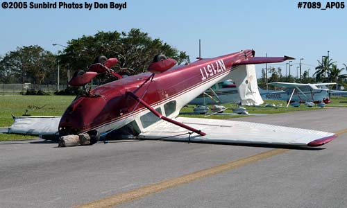 Gustavo Leyvas C-172 N7151T damaged by Hurricane Wilma aviation stock photo #7089