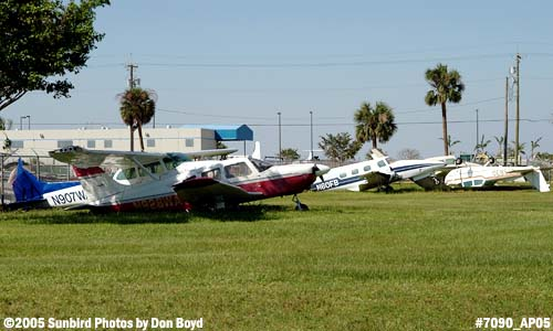 Cylinder Shop Inc.s Piper PA-28-181 N928WA and other aircraft damaged by Hurricane Wilma stock photo #7090