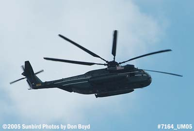 USMC Sikorsky CH-53E Super Stallion from HMX-1 flying over Miami Lakes military aviation stock photo #7164