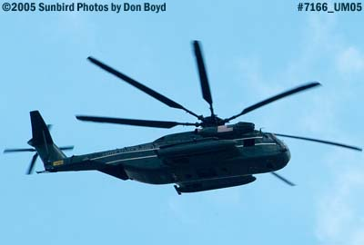 USMC Sikorsky CH-53E Super Stallion #165254 from HMX-1 flying over Miami Lakes military aviation stock photo #7166
