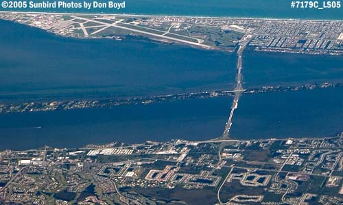 2005 - Patrick Air Force Base (top) and Melbourne (bottom) aerial stock photo #7179C