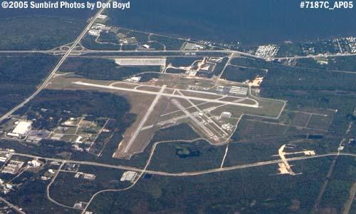 2005 - Titusville (TICO) Airport aerial stock photo #7187C
