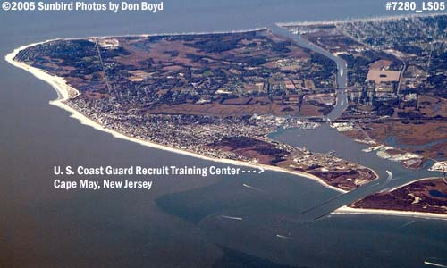 2005 - U. S. Coast Guard Recruit Training Center at Cape May, New Jersey aerial stock photo #7280