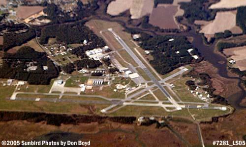 2005 - NASAs Goddard Space Flight Centers Wallops Flight Facility in Virginia aerial photo #7281