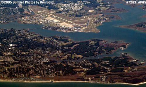 2005 - Langley Air Force Base, Virginia, aerial stock photo #7283