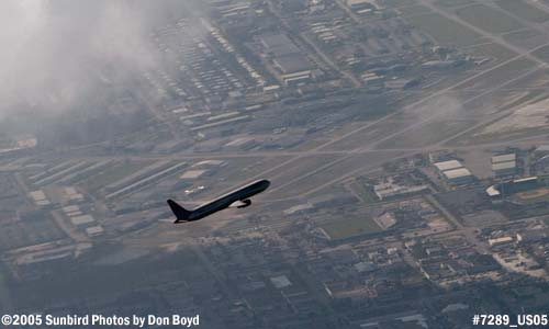 Delta Airlines B757-232 over Ft. Lauderdale Executive Airport aerial photo #7289