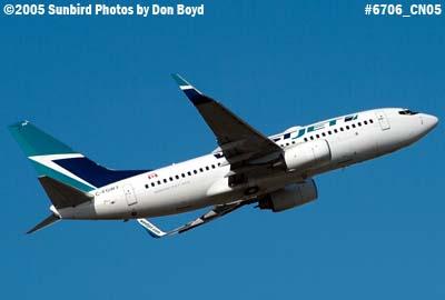 WestJet B737-7CT C-GWBF airline aviation stock photo #6706