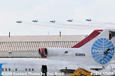 The Blue Angels at the 2008 Great Tennessee Air Show practice show at Smyrna aviation stock photo #1434