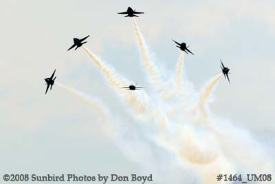 The Blue Angels at the 2008 Great Tennessee Air Show practice show at Smyrna aviation stock photo #1464