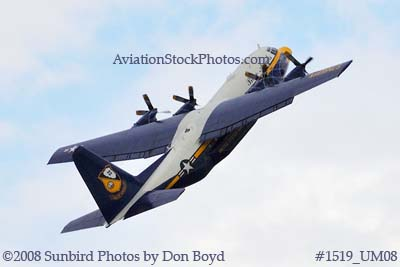 USMC Blue Angels Fat Albert C-130T #164763 at the Great Tennessee Air Show practice show at Smyrna aviation stock photo #1519
