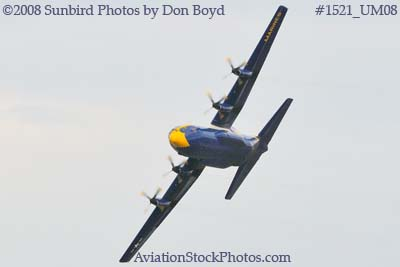 USMC Blue Angels Fat Albert C-130T #164763 at the Great Tennessee Air Show practice show at Smyrna aviation stock photo #1521