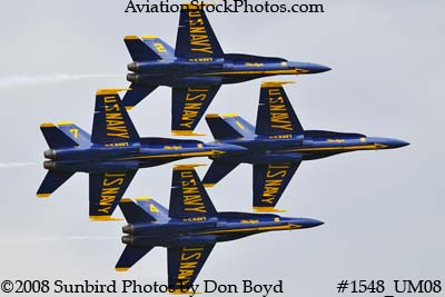 The Blue Angels at the 2008 Great Tennessee Air Show practice show at Smyrna aviation stock photo #1548