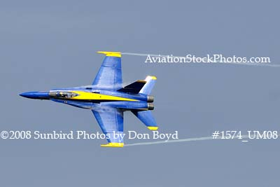 Blue Angel #7 at the 2008 Great Tennessee Air Show practice show at Smyrna aviation stock photo #1574