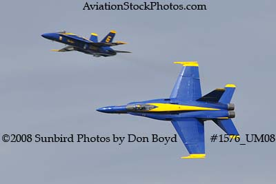 Blue Angels #6 and #7 at the 2008 Great Tennessee Air Show practice show at Smyrna aviation non-stock photo #1576