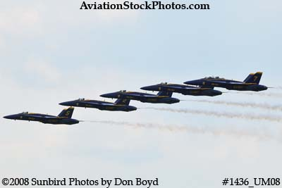 The Blue Angels at the 2008 Great Tennessee Air Show practice show at Smyrna aviation stock photo #1436