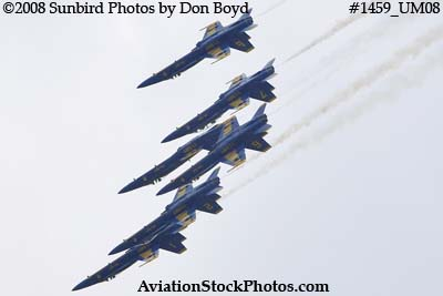 The Blue Angels at the 2008 Great Tennessee Air Show practice show at Smyrna aviation stock photo #1459