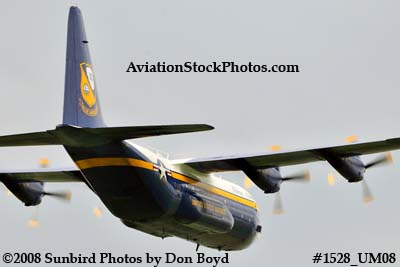 USMC Blue Angels Fat Albert C-130T #164763 at the Great Tennessee Air Show practice show at Smyrna aviation stock photo #1528