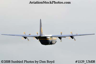 USMC Blue Angels Fat Albert C-130T #164763 at the Great Tennessee Air Show practice show at Smyrna aviation stock photo #1529