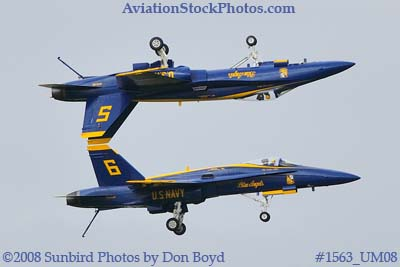 The Blue Angels #5 and #6 at the 2008 Great Tennessee Air Show practice show at Smyrna aviation stock photo #1563