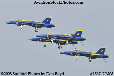 The Blue Angels at the 2008 Great Tennessee Air Show practice show at Smyrna aviation stock photo #1567