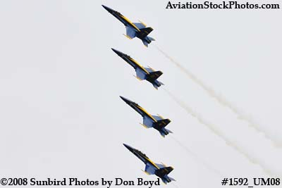 The Blue Angels at the 2008 Great Tennessee Air Show practice show at Smyrna aviation stock photo #1592