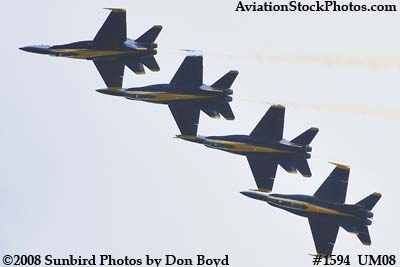 The Blue Angels at the 2008 Great Tennessee Air Show practice show at Smyrna aviation stock photo #1594