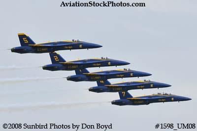 The Blue Angels at the 2008 Great Tennessee Air Show practice show at Smyrna aviation stock photo #1598