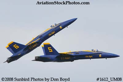 The Blue Angels #5 and #6 at the 2008 Great Tennessee Air Show practice show at Smyrna aviation stock photo #1612
