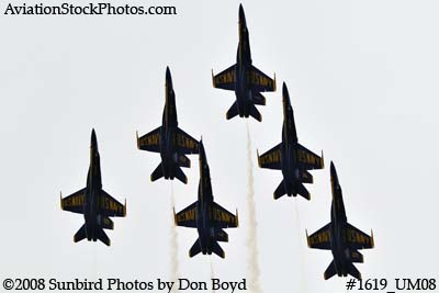 The Blue Angels at the 2008 Great Tennessee Air Show practice show at Smyrna aviation stock photo #1619