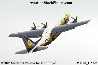 USMC Blue Angels Fat Albert C-130T #164763 at the Great Tennessee Air Show at Smyrna aviation stock photo #1768
