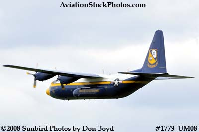 USMC Blue Angels Fat Albert C-130T #164763 at the Great Tennessee Air Show at Smyrna aviation stock photo #1773