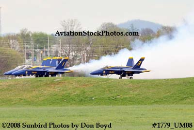 The Blue Angels takeoff at the 2008 Great Tennessee Air Show at Smyrna aviation stock photo #1779