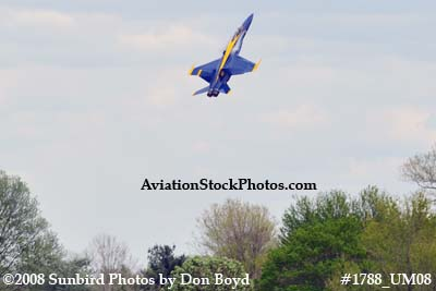 Blue Angels #6 at the 2008 Great Tennessee Air Show at Smyrna aviation stock photo #1788