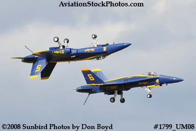 Blue Angels #5 and #6 at the 2008 Great Tennessee Air Show at Smyrna aviation stock photo #1799