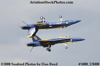Blue Angels #5 and #6 at the 2008 Great Tennessee Air Show at Smyrna aviation stock photo #1800