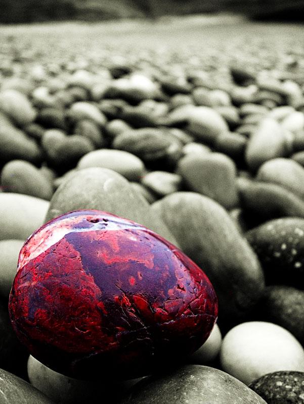 1519. Pebble on a beach