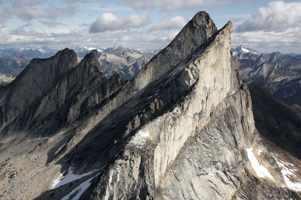 Leaning Towers:  Hall Peak, View NW <br> (Kootenay090908-_387.jpg)
