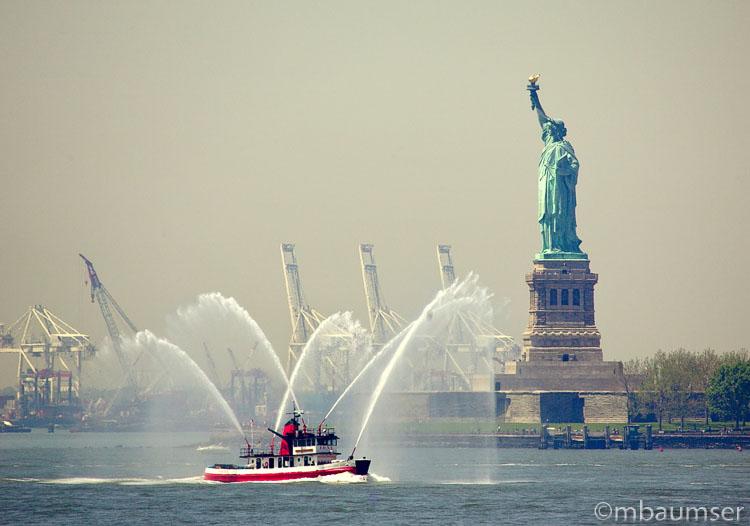 Fire Boat Shower