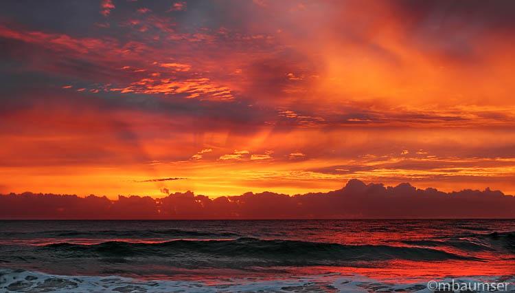Red Sunrise Delray Beach Florida