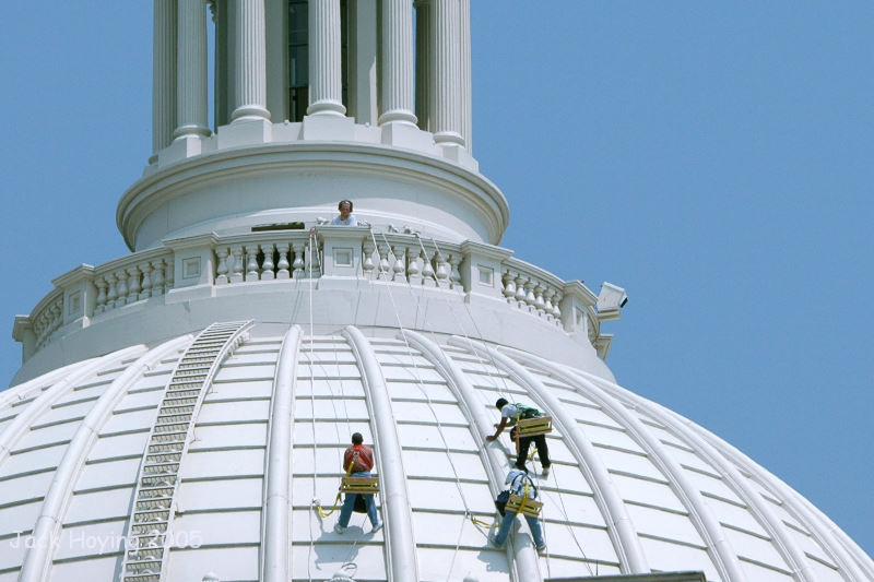 Working on the Roof of the US Capital
