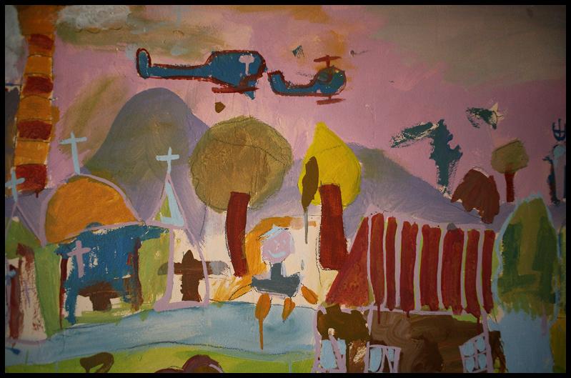 Detail Paul Gents Mural with children - Plemetina