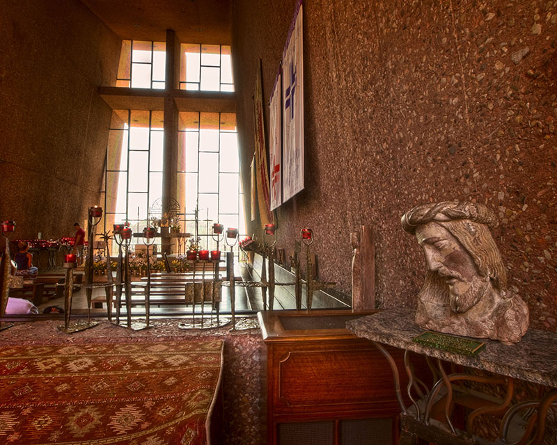 Inside the Chapel of Holy Cross