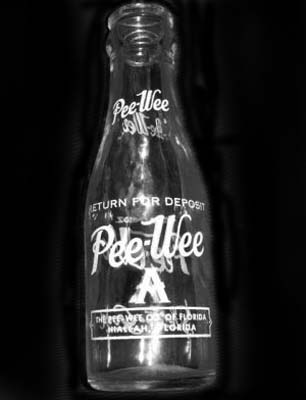 1950s-1960s - bottled Pee-Wee sodas, brewed in and distributed from Hialeah