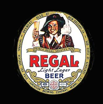 1960s - Regal Beer label - brewed in Miami