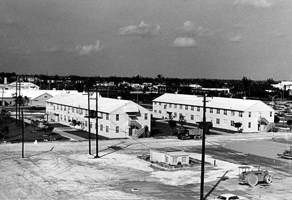 1962 - former Masters Field barracks being used by early classes at Dade County Junior College