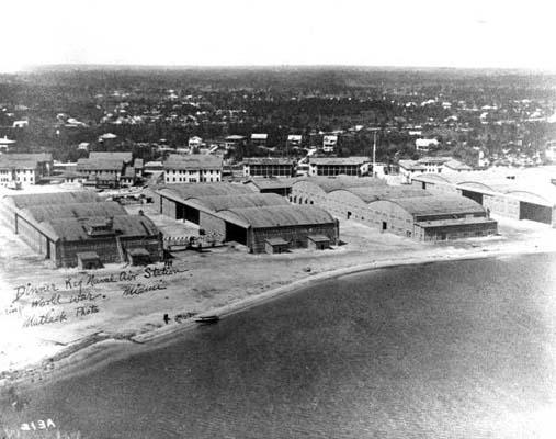 1917 - aircraft hangars at U. S. Naval Air Station Miami at Dinner Key, Miami