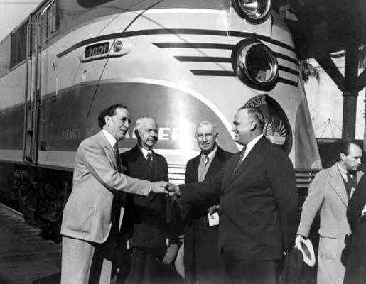 1939 - Christening of the FECs new streamlined train Henry M. Flagler at Miami