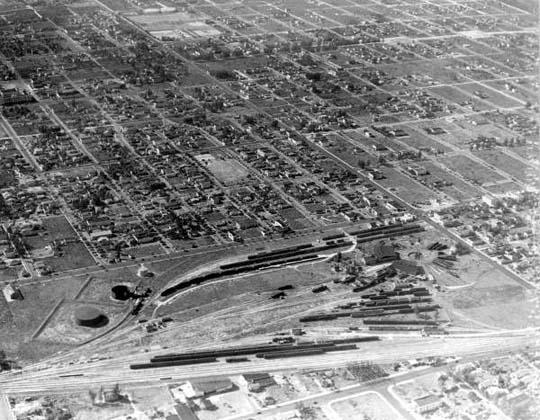 1928 - the Florida East Coast Railway Buena Vista rail yard in Miami