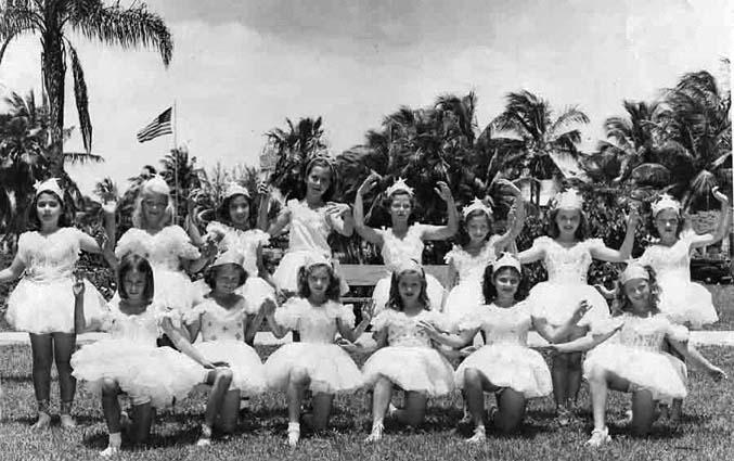 1947 - ballerinas at Shenandoah Elementary School, Miami